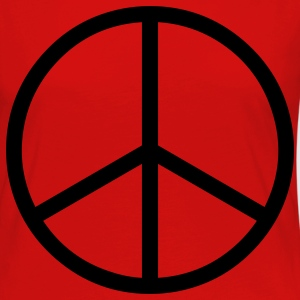 peace sign hippie T-Shirts - Frauen Premium Langarmshirt