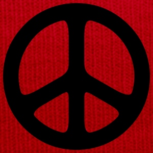 peace sign hippie T-shirt - Cappellino invernale