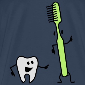 tooth and toothbrush Tops - Men's Premium T-Shirt