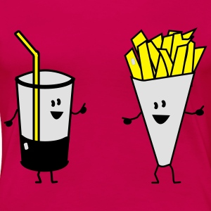 french fries drink Tops - Women's Premium T-Shirt