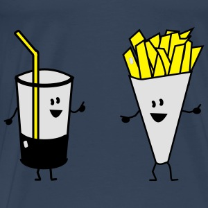 french fries drink Tops - Men's Premium T-Shirt