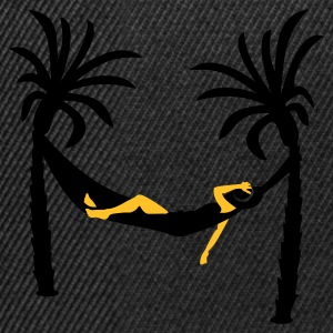 hängande mellan palmer / hanging between palm trees (2c) T-shirts - Snapbackkeps