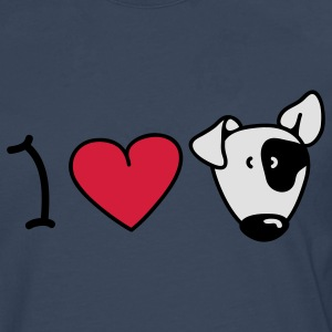 I love dogs Tops - Camiseta de manga larga premium hombre