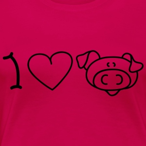 I love pigs Tops - Vrouwen Premium T-shirt