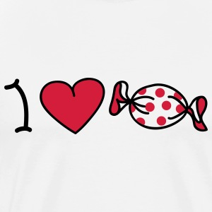 I love sweets Toppe - Herre premium T-shirt