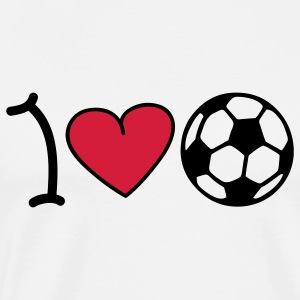 I love football Tops - Männer Premium T-Shirt