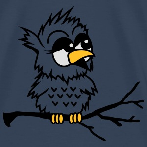 A little baby owl sitting on a branch  Tops - Men's Premium T-Shirt