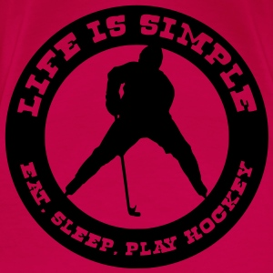 'Life is Simple, Eat, Sleep, Play Hockey' Débardeur fines bretelles Femme - T-shirt Premium Femme