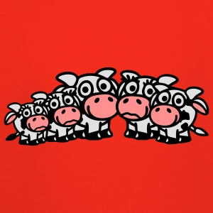 cow_family_with_boy_and_two_girls_3c T-shirts - Pull à capuche Premium Enfant