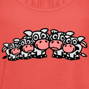 cow_family_with_boy_and_two_girls_3c T-shirts - Débardeur Femme marque Bella