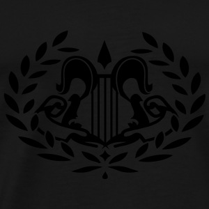 A harp in the laurel wreath Tops - Men's Premium T-Shirt