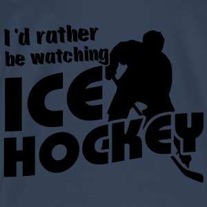 'I'd Rather Be Watching Ice Hockey' Spaghetti Top - Men's Premium T-Shirt