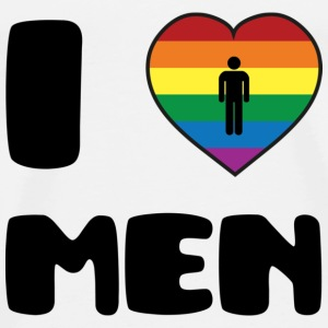 I Love Men :) T-Shirts - Men's Premium T-Shirt