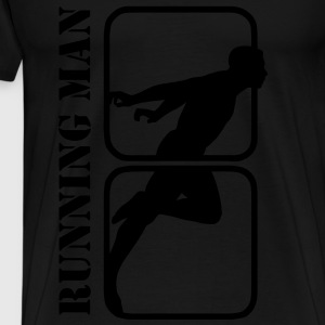 Running Man jogging sports motif T-Shirts - Men's Premium T-Shirt