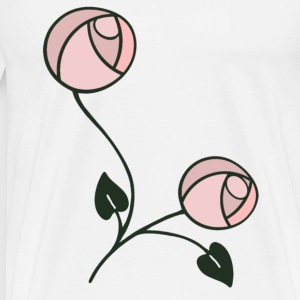 Mackintosh Style Art Nouveau Roses - Men's Premium T-Shirt