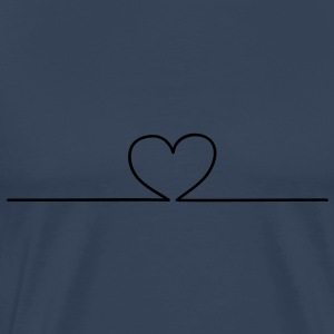 Heart online Tops - Men's Premium T-Shirt