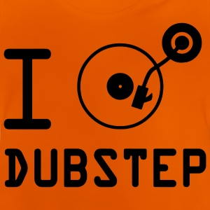 Je joue dubstep / I Love Dubstep / vinyle DJ Tee shirts Enfants - T-shirt Bébé