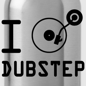 I play dubstep / I Love Dubstep / vinile DJ T-shirt bambini - Borraccia