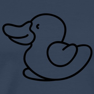 Cute little duck Topper - Premium T-skjorte for menn