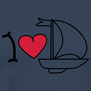 I love sailing Tops - Mannen Premium T-shirt