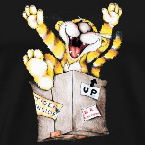 Tiger in the box Toppe - Herre premium T-shirt