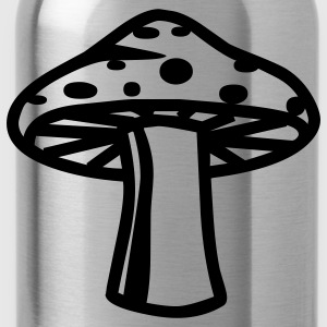 retro drugs shroom hippie seventies T-Shirts - Water Bottle
