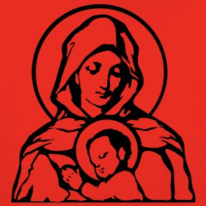 Mary and Jesus T-Shirts - Premium-Luvtröja barn