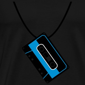Retro - Cassette - Music - Necklace Tops - Men's Premium T-Shirt