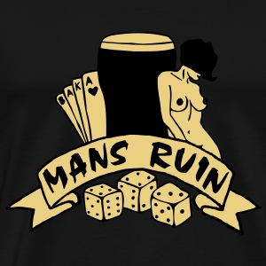 2 colours - mans ruin pin up girl sex drugs rock n roll junggesellenabschied T-Shirts - Männer Premium T-Shirt