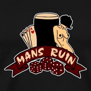 Digital02 - mans ruin pin up girl sex drugs rock n roll junggesellenabschied T-Shirts - Männer Premium T-Shirt