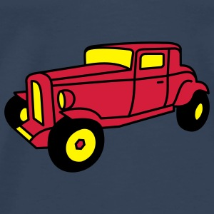 3 color Oldtimer Hot Rod Straßenkreuzer Rock and Roll Custom Car Toppar - Premium-T-shirt herr