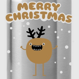 Merry Christmas Moose Tops - Water Bottle