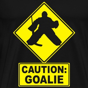 Caution: Goalie (hockey) Tops - Men's Premium T-Shirt