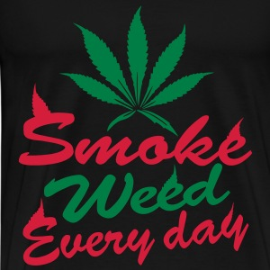 smoke weed every day Toppar - Premium-T-shirt herr