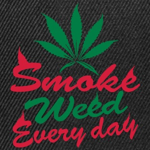 smoke weed every day Top - Snapback Cap