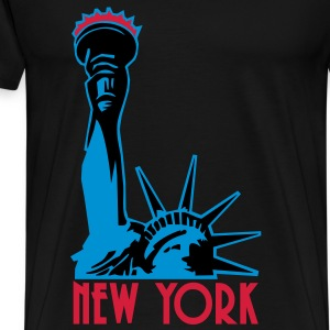 Liberty Enlightening the World, New York, NY, Freiheitsstatue, Statue of Liberty, www.eushirt.com, EN - Men's Premium T-Shirt