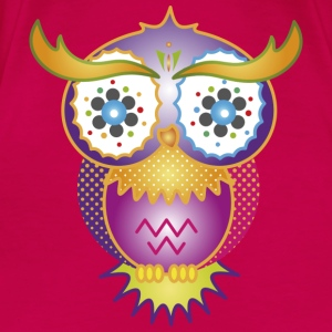 A psychedelic owl Tops - Women's Premium T-Shirt