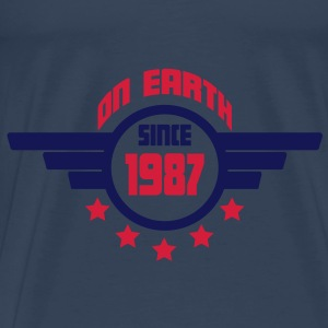 1987_on_earth Toppar - Premium-T-shirt herr