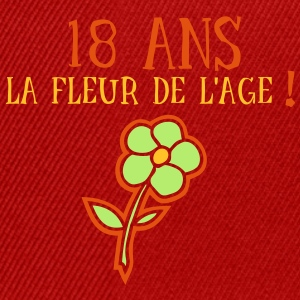 18 ans fleur age Tee shirts - Casquette snapback
