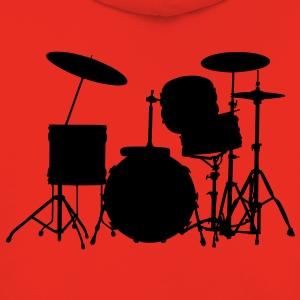 music drums drum set Kinder T-Shirts - Kinder Premium Hoodie