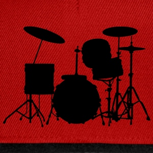 music drums drum set Tee shirts Enfants - Casquette snapback