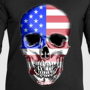USA Skull - Men's Sweatshirt by Stanley & Stella