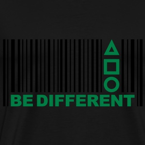 Be Different - Barcode - Symbolen - Bar code Tops - Mannen Premium T-shirt