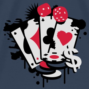 Card game hearts, spades, diamonds, clubs with dice and tokens Tops - Men's Premium T-Shirt