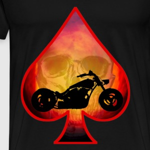Ace Of Spades Biker Skull Tops - Men's Premium T-Shirt