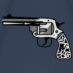 old revolver with ornamental decorations on the grip Tops - Men's Premium T-Shirt