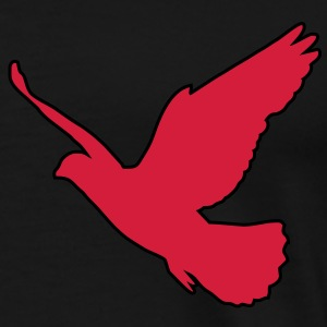 2 colors - Friedenstaube Dove Vogel Frieden Freiheit Birds Flying Peace Freedom Top - Maglietta Premium da uomo