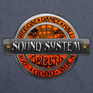sound system reggae dance hall jamaica Tops - Shoulder Bag made from recycled material