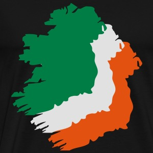 3 colors - Ireland irish Shamrock Saint Sankt Patricks Day Map Irland Irisch Kleeblatt T-skjorter - Premium T-skjorte for menn