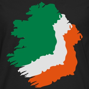 3 colors - Ireland irish Shamrock Saint Sankt Patricks Day Map Irland Irisch Kleeblatt T-shirts - Herre premium T-shirt med lange ærmer
